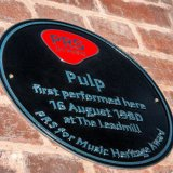 Pulp's PRS plaque Leadmill 2015