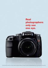 Sony alpha SLR digital camera.