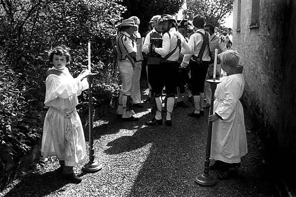 Sunday church procession