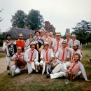Morris Sunderland with Thaxted Morris 1976