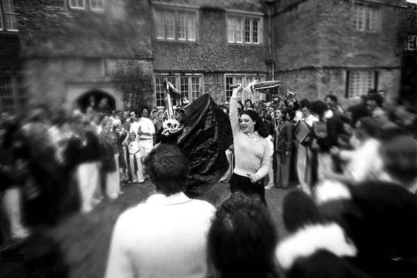 Padstow Oss dance, Cornwall, May Day 1979