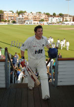 Andrew Hodd after his maiden 100