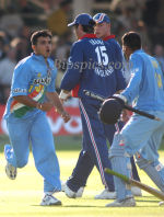 Ganguly and Kaif celebrate a famous win at Lord's