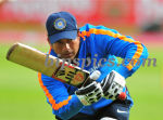 Sachin during a practice session at Edgbaston