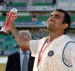 Zaheer Khan Enjoys the moment