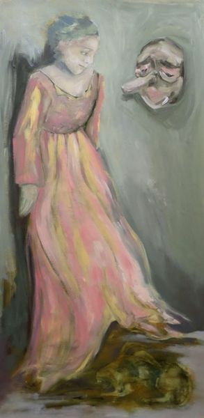 Annunciation (2019) 160cm x 68cm oil on jute