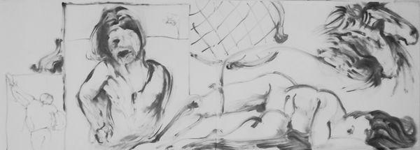 Jayne Eyre (2018) Graphite powder 59cm x 160cm