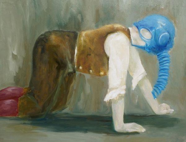 The Transmigration of a Soul (2020) 100cm x 140cm oil on jute