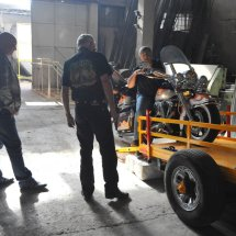 16. Hazem offloads our Road King at his factory in Damascus