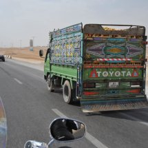 17. Passing a tomato truck in Jordan