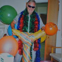 22 My fun Loving husband cheers me up on my birthday