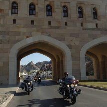 30.Riding around Muscat with 250 Harleys