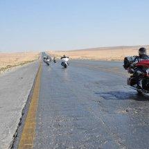 3. Riding through flat desert of North Jordan towards Syria