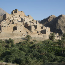 Dhee Ain Marble Village nestled in foothills of Asir mountains