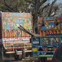 IND 6161 Colourful Trucks India