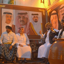 JED 2866 Men dressed in Hejazi Style at Jeddah Festival