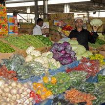 JP1 8536 Vegetable stall in Malaga market Jeddah