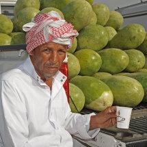 JP1 8579 Habhab seller in Malaga fruit&veg market