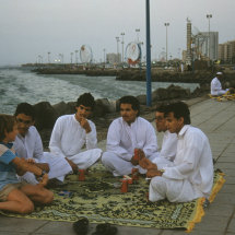 1986 Young Saudis on Corniche with our son Dusko.