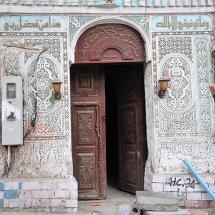 RHI 3714 Ornate plasterwork around door Old Town Jeddah