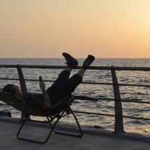 Relaxing on Jeddah Corniche