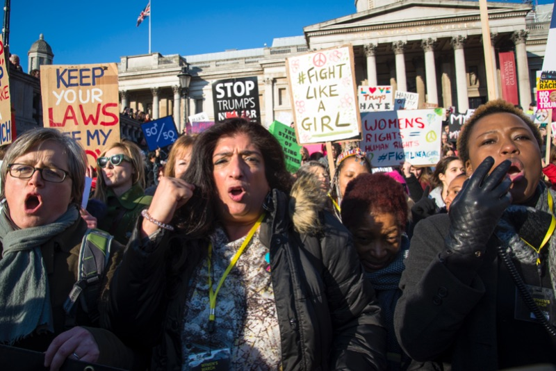 Women March on London, 2017