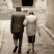 Elderly couple, Chartres, France