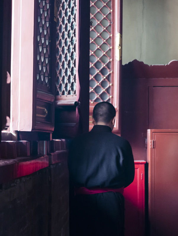 Buddhist monk, Lama Temple, Beijing