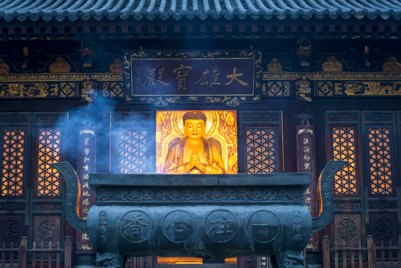 Shrine in Giant Wild Goose Pagoda, Xian