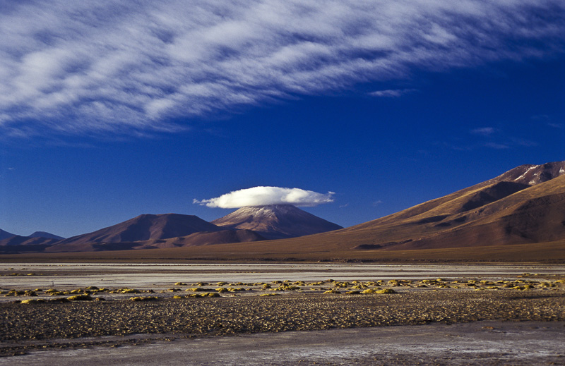 Cloud on mountain peak, Bolivia
