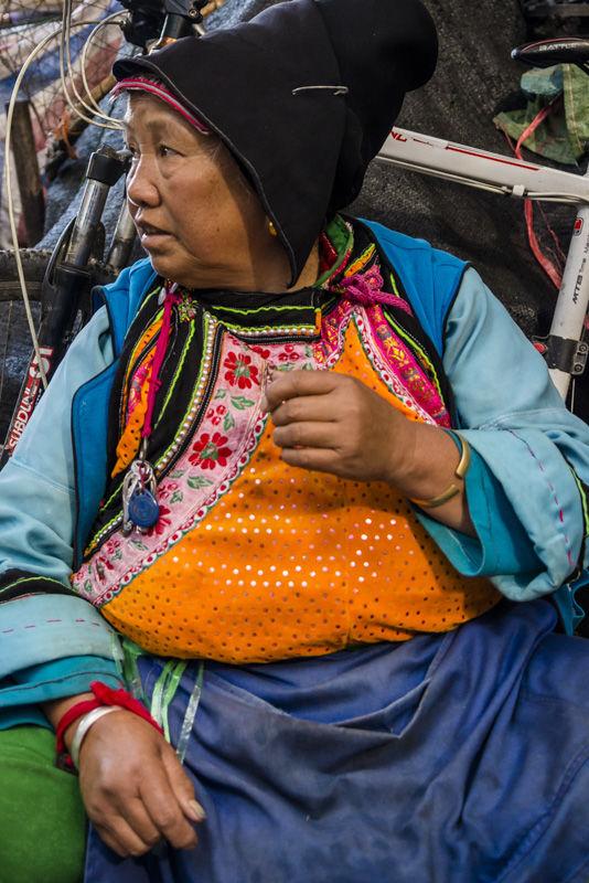 Market woman, Dali Old Town