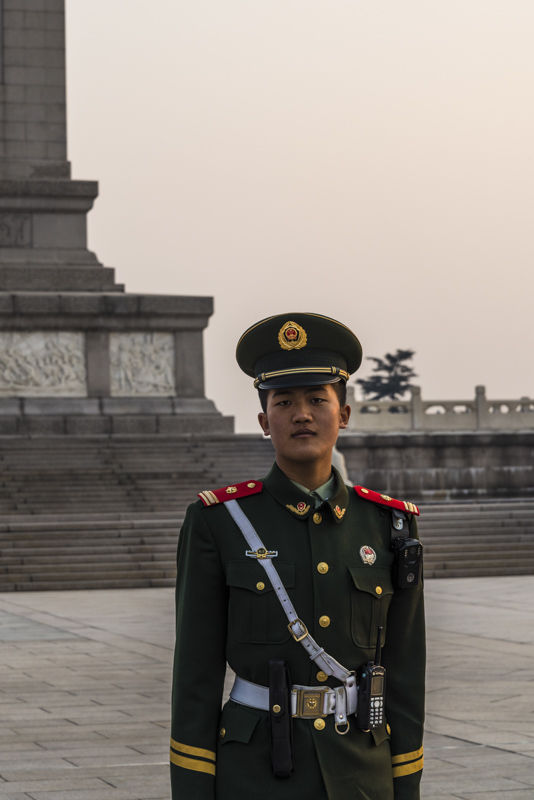 Soldier at  Tiananmen Square