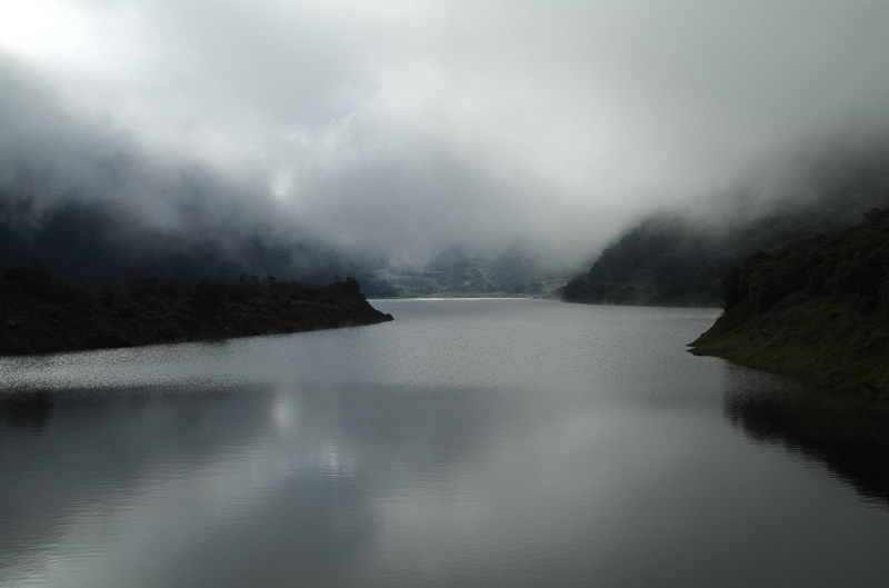 Misty lake, Ecuador