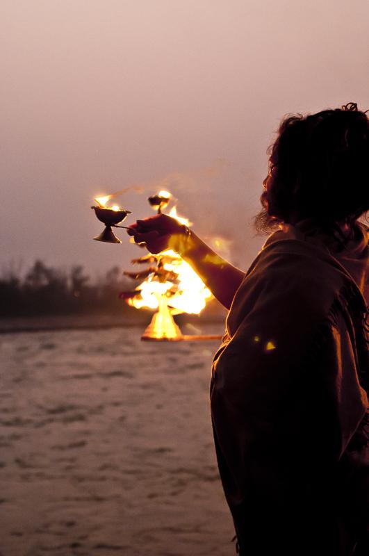 Aarti ritual, Rishikesh, India