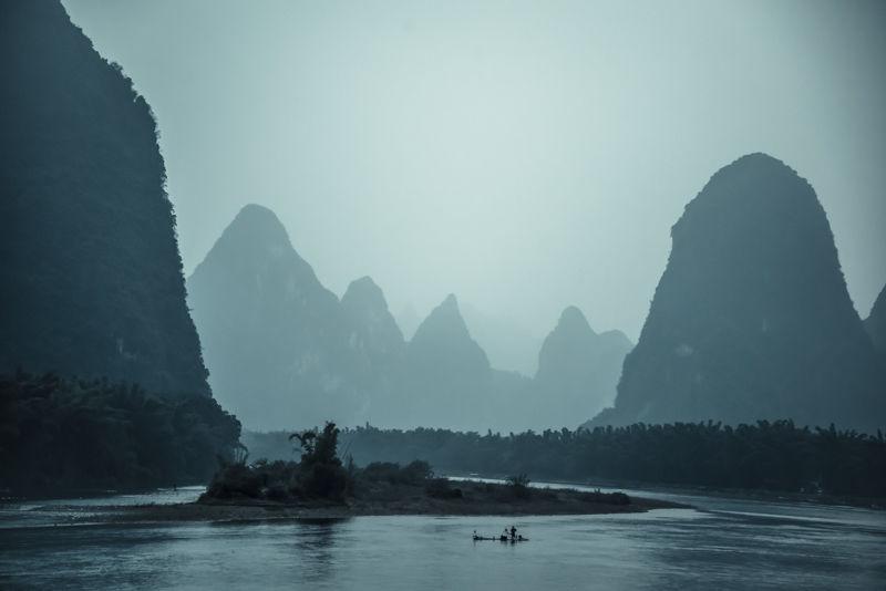 Li river, Guilin region, Guangxi province