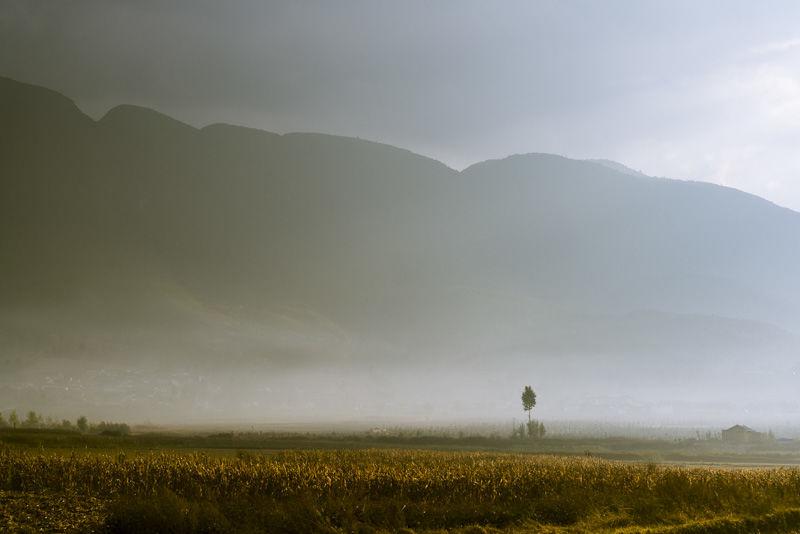 Misty landscape, Yunnan