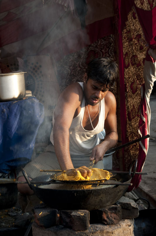 Street cooking, Pushkar, India