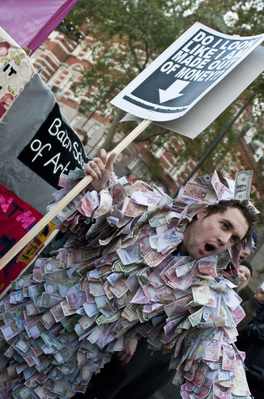 Student protest against University fees, London