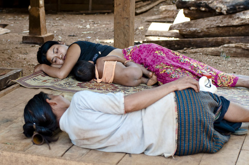 Siesta, Hill tribe village, Laos