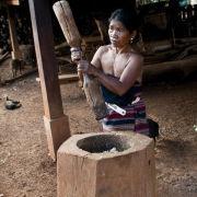 Hill tribe village, Laos