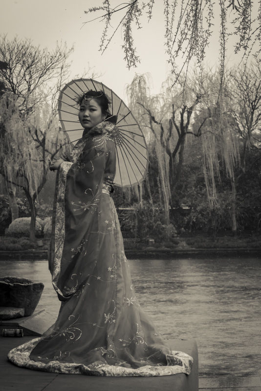 Woman at West Lake, Hangzhou