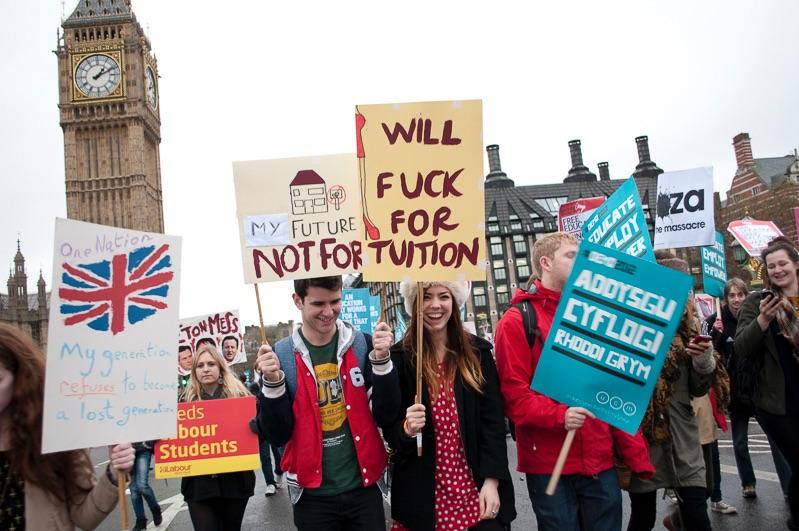 Student demonstration, London