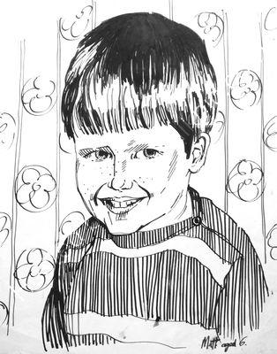 Matt pen and ink