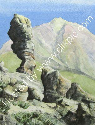 Mount Tiede watercolour