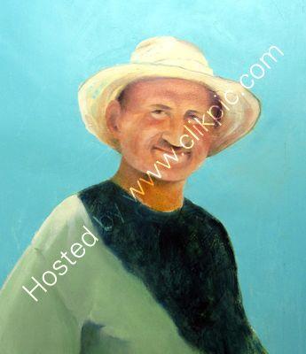 Turkish Gardener oil on canvas