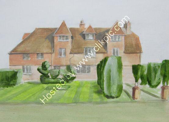 Pekes Manor acrylic on paper