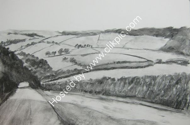The road from Bodmin charcoal