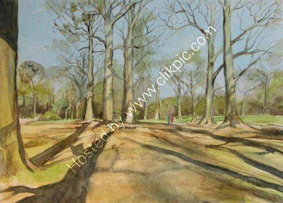 Bush Park watercolour