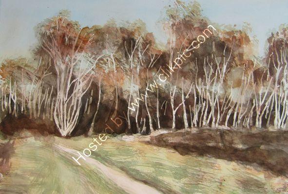 Cobham Common watercolour