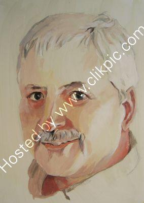 Self Portrait acrylic on paper